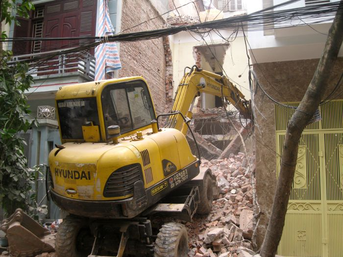 Phá dỡ công trình tại quy nhơn Bình Định