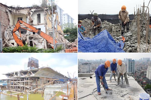Công tác phá dỡ công trình quận 10