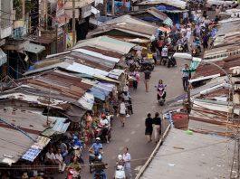 Phá dỡ chợ cũ Tphcm